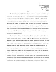 Personality Reflection Essay