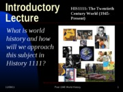 Introductory Lecture1