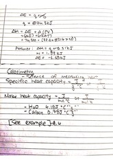 CHEM 122 Fall 2014 Calorimeter Lecture Notes