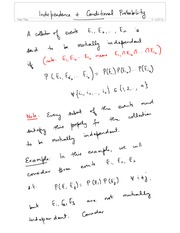2-Independence & Conditional Probability