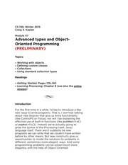Module 7 - Advanced Types of Object-Oriented Programming