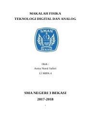 Contoh Makalah Fisika Teknologi Digital