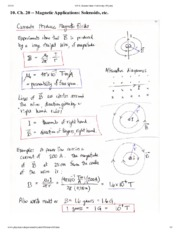 Magnetic Applications Notes