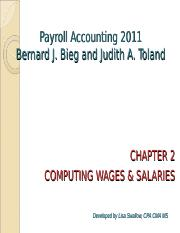 payroll accounting chapter 6 bieg and toland Bieg/toland's market-leading payroll accounting 2019 introduces the latest payroll laws and developments you focus on practical applications rather than theory as you complete hands-on exercises detailed examples and real business applications demonstrate the importance of skills you are learning.