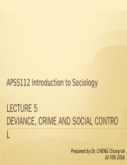 APSS112_L5_Deviance,crime and social control