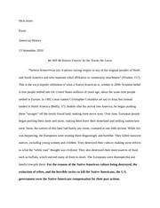Native Americans Essay