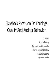 Clawback Provision Chapter 3 (1)