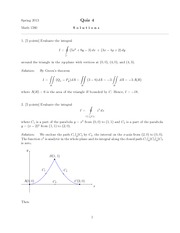 Quiz D Solutions on Complex Variables and Applications
