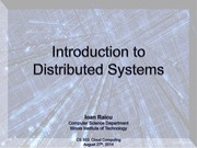 1. Introduction to Distributed Systems