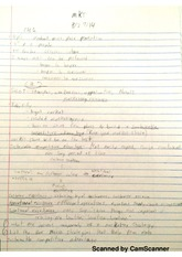 Class notes ch 1, 2
