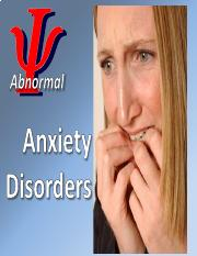 4 - Anxiety Disorders slides (PDF) (Aug. 18, 2016).pdf