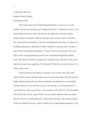 Diwali Essay In English  Pages Business Plan Essay Integrated Seminar Thesis Statement Descriptive Essay also Essays About High School Mock Interview Assignment Essay Integrated Seminar  Joseph James  Sample Essays For High School