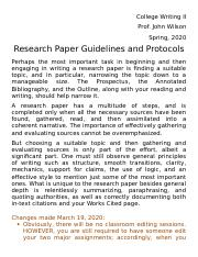 Research pape guidelines revised March 19 2020.doc