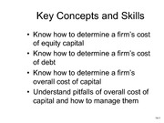 Class notes- Chapter14- Cost of Capital