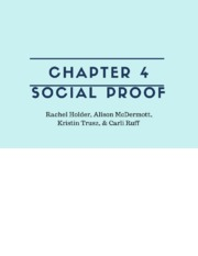 Social Proof-chp4