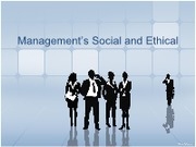 Part 5.3 - Management's Social and Ethical Responsibilities