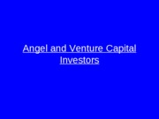angel and VC investors ppt