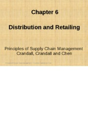 Chapter 06 Distribution and Retailing PSCM2E