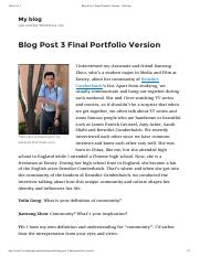 Blog Post 3 Final Portfolio Version – My blog