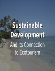 2-Sustainable-Development ppt - Sustainable Development And