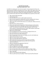 GCH 205.Final Exam Study Guide.Global Health.2017.docx