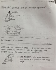 Geometry Surface Area Homework