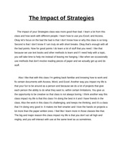 The Impact of Strategies