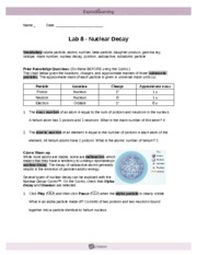 Lab8 NuclearDecay