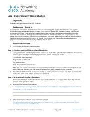 Lab4- Cybersecurity Case Studies Lynette Smith.docx