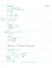 Chapter 2 notes Motion in 2 Dimension