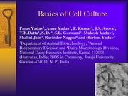 17 Lecture 6 Cell Culture