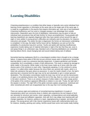 HS 108 (Learning Disabilities)