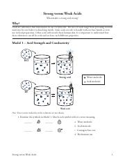 Worksheets Molarity Pogil Answer Key 33 strong vs weak acids s versus what makes a acid