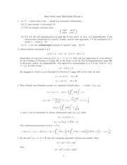 Midterm Exam 1 Solution on Advanced Linear Algebra II