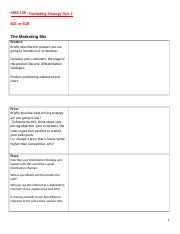 MRK 108 - The Marketing Strategy Proposal & Rubrics.docx
