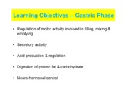 Lecture 35 Gastric Phase of Digestion