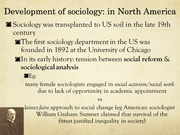 North American Sociological Development