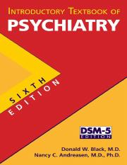 Introductory Textbook of Psychiatry - Black, Donald W. -SRG-