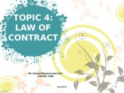 TOPIC 4 - CONTRACT LAW