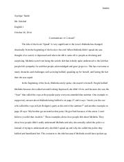 Final Draft Essay