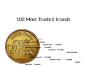 100 Most Trusted brands