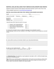 Martha Lavallee-Williams Fund_Application Form