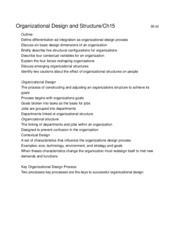v366 Organizational Design and Structure