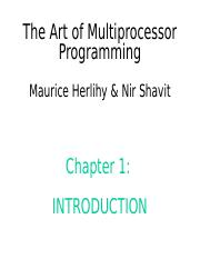Art of Multiprocessor Programming--ch1