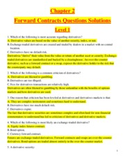 Chapter 2 - Forward Contracts  - Questions Solutions