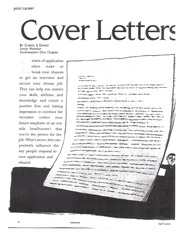 Article--Cover Letters That Sell You