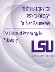 The origin of psychology in philosophy 2.0.pot.ppt