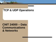 Lecture12 - TCP & UDP