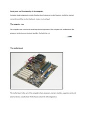 Basic parts and functionality of the computer