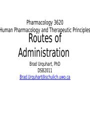 Lec 9 - Routes of Administration for notes PPTX